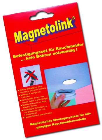 magnetolink magnetpad f r rauchmelder montage. Black Bedroom Furniture Sets. Home Design Ideas
